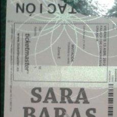Música de colección: ENTRADA SARA BARAS. Lote 47630438