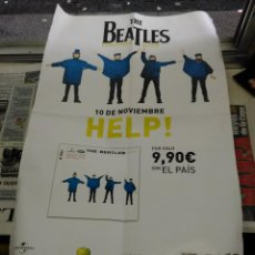 Música de colección: POSTER THE BEATLES. HELP. EL PAIS.. Lote 47901000