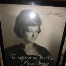 Música de colección: LICIA CALDERON FOTOGRAFIA FIRMADA POR IBAÑEZ ENMARCADA DE LA REVISTA ANA MARIA 54 X 64 CTMS.. Lote 47945373