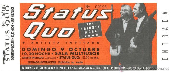 CONCIERTO STATUS QUO - ZARAGOZA 1995 (Música - Varios)