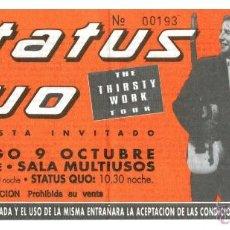Música de colección: CONCIERTO STATUS QUO - ZARAGOZA 1995. Lote 48152369