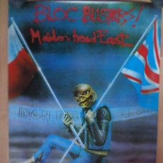 Música de colección: POSTER_IRON MAIDEN _MAIDEN IN POLAND 1984_ROVENBAZ. Lote 48466327