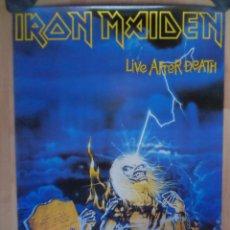 Música de colección: POSTER_IRON MAIDEN _LIVE AFTER DEATH_ROVENBAZ. Lote 48466391