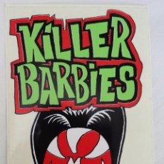 Música de colección: THE KILLER BARBIES - ADHESIVO PROMOCIONAL. Lote 118590470