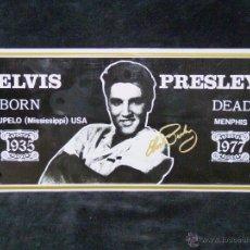 Música de colección: PLACA METÁLICA ELVIS PRESLEY 30 X 15 CM.. CICMA ESPAÑA. Lote 50267911