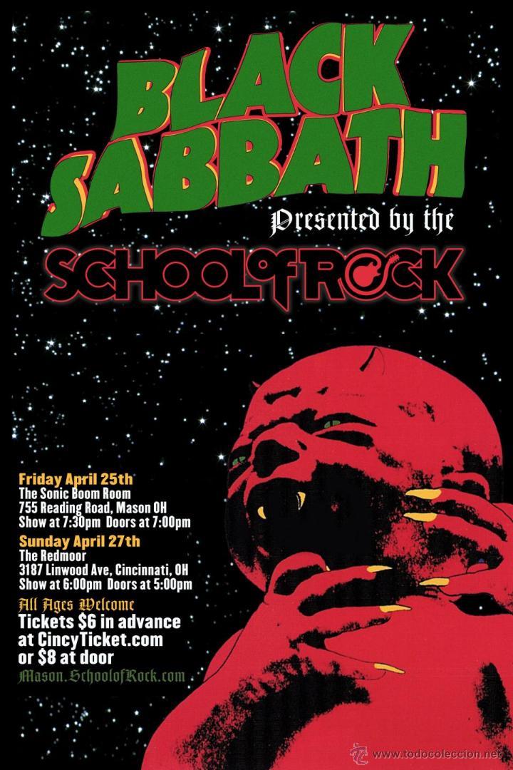 black sabbath - school of rock mason !! cartel - Comprar en ...