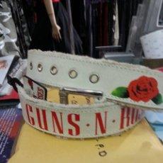 Música de colección: GUNS N ROSES-REAL LEATHER BELT 2006 VINTAGE ROSE SIZE L,OFFICIAL MERCH . Lote 50453344