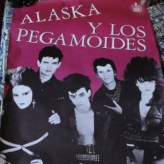 Música de colección: CARTEL POSTER ALASKA Y LOS PEGAMOIDES - ORIGINAL AÑOS 80 - LA MOVIDA MADRILEÑA - PUNK -. Lote 53470659