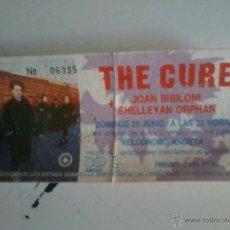Música de colección: ENTRADA THE CURE-DOMINGO 25 JUNIO 1989 -ANOETA- SAN SEBASTIAN. Lote 176866548