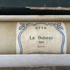 Música de colección: ROLLO DE PIANOLA MARCA VICTORIA 2715 'LA DOLORES' JOTA - BRETON 5537. Lote 50983358