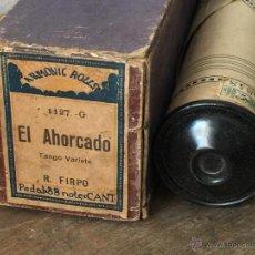 Música de colección: ROLLO DE PIANOLA ARMONIC ROLLS 1127 'EL AHORCADO' TANGO - R. FIRPO. Lote 50983456