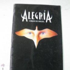 Música de colección: CIRQUE DU SOLEIL. ALEGRIA. EUROPEAN TOUR. 1997 - 1998.. Lote 51541453