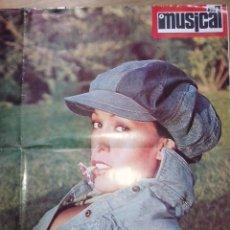 Música de colección: CARTEL DE MASSIEL DE LA REVISTA EL GRAN MUSICAL DE 1973. Lote 51550786