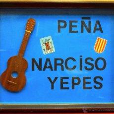 Música de colección: CUADRO DECORACION VINTAGE PEÑA NARCISO YEPES GUITARRA ESPAÑOLA FLAMENCO CATALUNYA BARCELONA (80). Lote 52572981