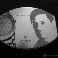 Música de colección: ALEJANDRO SANZ // ESTUCHE METALICO DE RELOJ VICEROY SERIE ESPECIAL // LEER DESCRIPCION. Lote 52576570