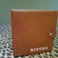 Música de colección: PORTA DISCOS VINTAGE MARRON CLARO AÑOS 60. Lote 52605744
