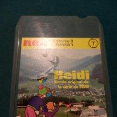 Música de colección: HEIDI - BANDA ORIGINAL DE LA SERIE DE RTVE - CARTUCHO 8 PISTAS STEREO - RCA 1975. Lote 52701045