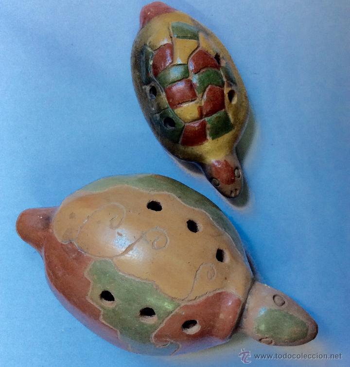 Música de colección: Dos FLAUTAS de cerámica de origen Hispanoamérica muy antiguas - Foto 3 - 53015764