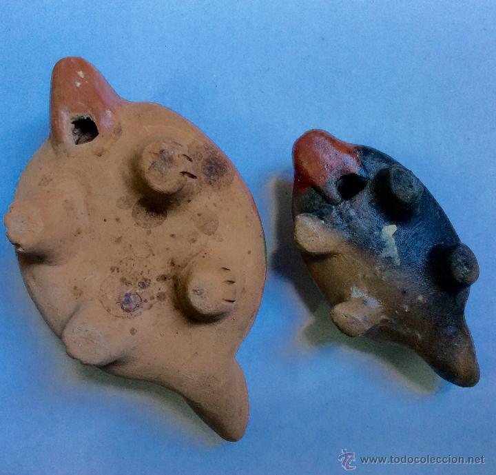 Música de colección: Dos FLAUTAS de cerámica de origen Hispanoamérica muy antiguas - Foto 4 - 53015764
