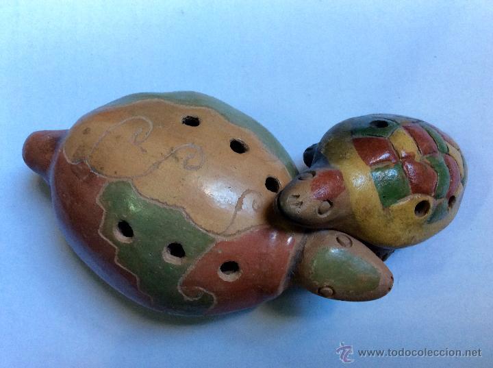 Música de colección: Dos FLAUTAS de cerámica de origen Hispanoamérica muy antiguas - Foto 5 - 53015764
