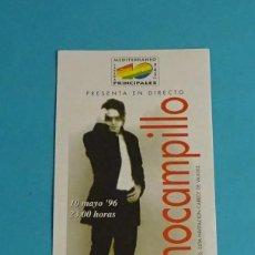 Música de colección: INVITACIÓN 40 PRINCIPALES 10 MAYO 1996. NACHO CAMPILLO. Lote 53046991