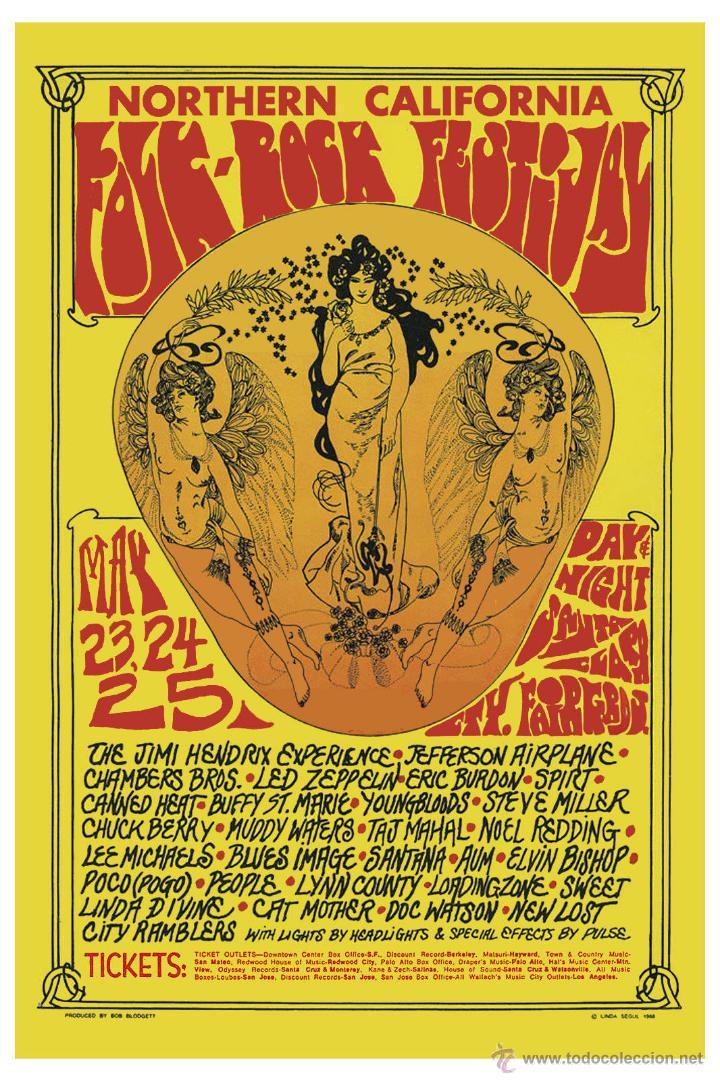 jimi hendrix & led zeppelin at folk-rock festiv - Comprar en ...