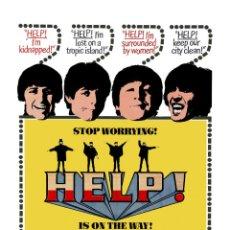 Música de colección: THE BEATLES - HELP! * USA POSTER PROMOTIONAL WINDOW CARD !! CARTEL CONCIERTO 30X40 !!. Lote 53557760