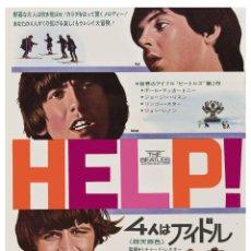 Música de colección: THE BEATLES - HELP! * FROM JAPAN MOVIE POSTER WINDOW CARD 1965 !! CARTEL CONCIERTO 30X40 !!. Lote 53557838