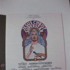 Música de colección: JESUS CHRIST SUPERSTAR. SOUVENIR BROCHURE AND LIBRETTO. EN INGLES.. Lote 53615952