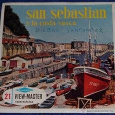 Música de colección: VIEW MASTER - SAN SEBASTIAN Y LA COSTA VASCA (1955). Lote 53634550