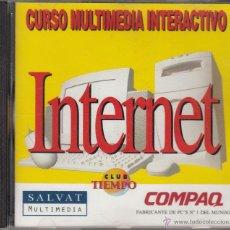 Música de colección: CD-ROM. CURSO MULTIMEDIA INTERACTIVO INTERNET. SALVAT MULTIMEDIA. CLUB TIEMPO.. Lote 54056562