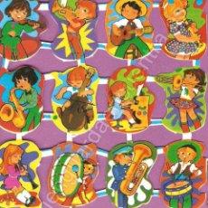 Música de colección: CROMOS NIÑOS INSTRUMENTOS MUSICALES MÚSICA TROMPETA VIOLÍN SAXO GUITARRA TAMBOR ACORDEÓN BATERÍA . Lote 125436804