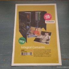 Música de colección: ANTIGUA HOJA PUBLICITARIA FLAMENCO - CAMARON DE LA ISLA , FLAMENCO BOX SET . CAMARON INTEGRAL . Lote 56529543