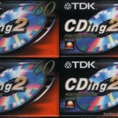 Música de colección: CINTA VIRGEN TDK DE CROMO 60 MINUTOS 4 UNIDADES. Lote 56638833