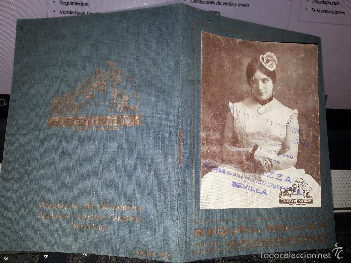 RAQUEL MELLER COLECCION DE COUPLETS MARCA GRAMOFONO 1916 LA VOZ DE SU AMO (Música - Varios)