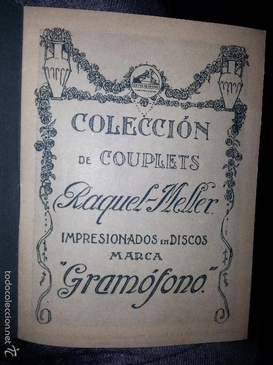Música de colección: RAQUEL MELLER COLECCION DE COUPLETS MARCA GRAMOFONO 1916 LA VOZ DE SU AMO - Foto 2 - 57076722