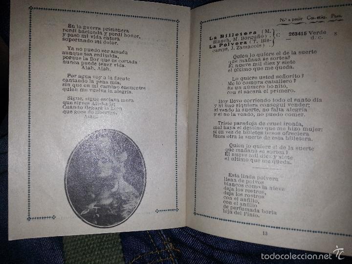 Música de colección: RAQUEL MELLER COLECCION DE COUPLETS MARCA GRAMOFONO 1916 LA VOZ DE SU AMO - Foto 3 - 57076722