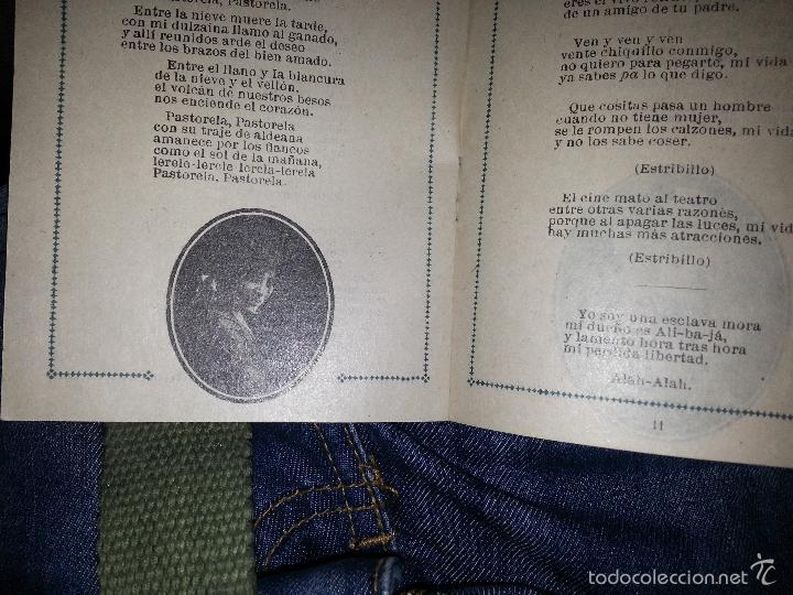 Música de colección: RAQUEL MELLER COLECCION DE COUPLETS MARCA GRAMOFONO 1916 LA VOZ DE SU AMO - Foto 4 - 57076722