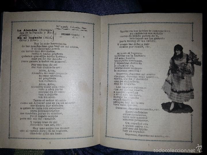 Música de colección: RAQUEL MELLER COLECCION DE COUPLETS MARCA GRAMOFONO 1916 LA VOZ DE SU AMO - Foto 7 - 57076722