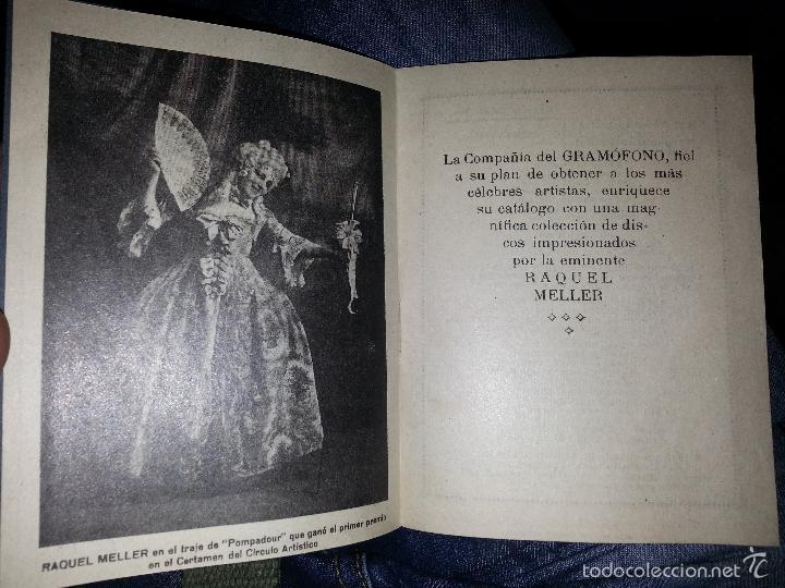 Música de colección: RAQUEL MELLER COLECCION DE COUPLETS MARCA GRAMOFONO 1916 LA VOZ DE SU AMO - Foto 9 - 57076722