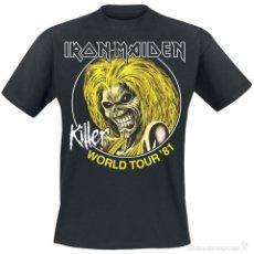 CAMISETA-IRON MAIDEN-KILLER-TOUR 8, TODAS LAS TALLAS