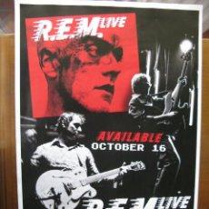 Música de colección: R.E.M. / REM LIVE. DUBLIN. 28 X 43 CM. IMPRESO POR LAS DOS CARAS. MADE IN U.S.A. DIFICIL!!!. Lote 57361518