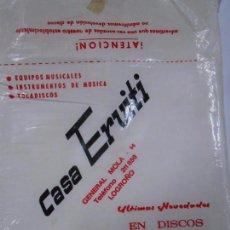 Música de colección: FUNDA DE PLASTICO PARA DISCO. CASA ERVITI. LOGROÑO SAN SEBASTIAN. TDKDS6. Lote 57470685