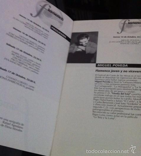 Música de colección: 2ª FESTIVAL FLAMENCO DE TORRENT - VALENCIA . PROGRAMA - MIGUEL POVEDA, CHANO LOBATO... - Foto 2 - 57517073