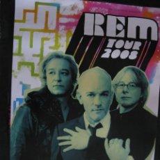 Música de colección: GRAN POSTER ORGINAL R.E.M. REM TOUR 2008 MUNCHEN OLYMPIAHALLE. 83,5 X 59 CM.. Lote 57968034