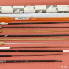 Música de colección: COLECCION DE 10 BATUTAS. 3 DE ELLAS EN EBANO Y PLATA MACIZA. CIRCA 1950. . Lote 91796524