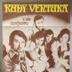 Música de colección: PÓSTER / CARTEL MÚSICA - RUDY VENTURA Y SU CONJUNTO - AÑOS 70 - DISCOS BELTER - MEDIDAS 96 X 67 CM. Lote 58064074