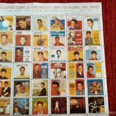 Música de colección: COLLECTIBLE STAMPS OF ELVIS PRESLEY 1960 RCA COVER'S 36 SELLOS. Lote 58164253