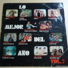 Música de colección: L.P. LO MEJOR DEL AÑO. VOLUMEN 7. JOHNNY RIVERS, KARINA, MIGUEL RIOS, RAPHAEL. Y VARIOS MÁS.. Lote 58231232