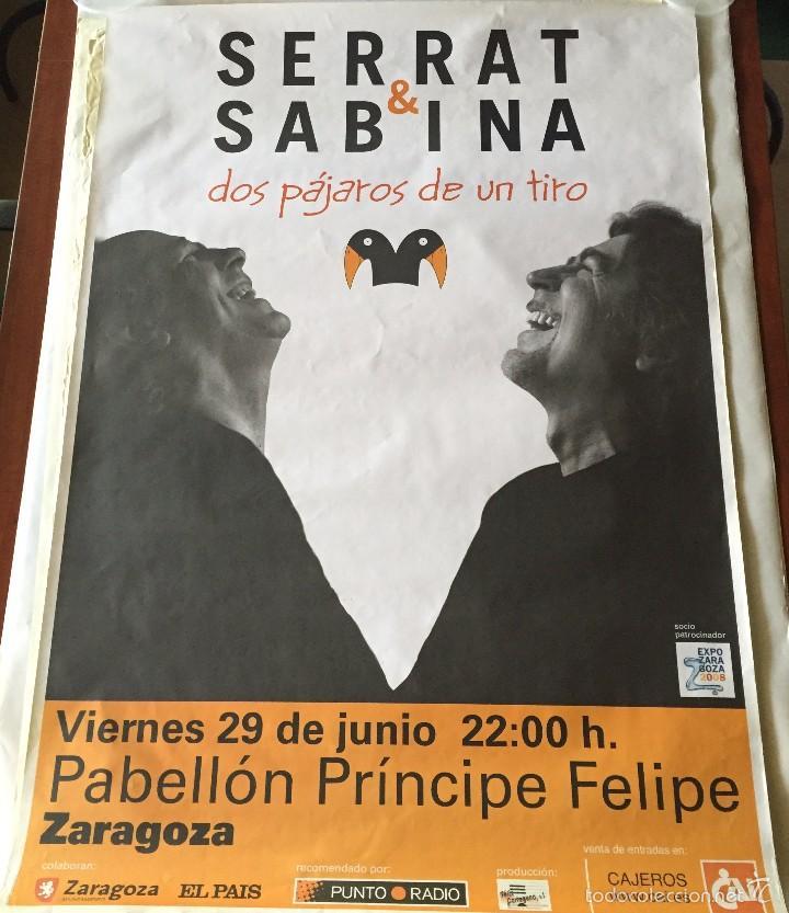 CARTEL SERRAT & SABINA - DOS PÁJAROS DE UN TIRO - ZARAGOZA 2012 (Música - Varios)